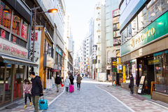 walking street  in Tokyo, Japan. Stock Photo