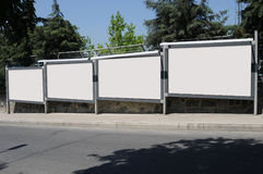 Blank billboard outdoors, outdoor advertising Stock Photos