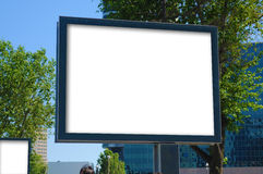 Blank billboard outdoors, outdoor advertising Royalty Free Stock Photos