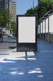 Blank billboard outdoors, outdoor advertising Royalty Free Stock Photography