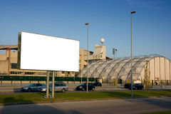 Blank billboard outside stadium Royalty Free Stock Images