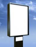 Blank billboard over blue sky Stock Photos
