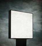 Blank billboard over grunge background Royalty Free Stock Images