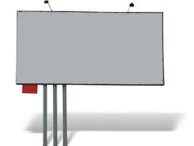 Blank billboard over white background Royalty Free Stock Image