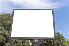 Blank billboard in a par Royalty Free Stock Photos