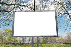 Blank billboard in a park Stock Photography