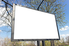 Blank billboard in a park Stock Photo