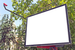 Blank billboard in a park Stock Image