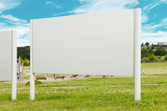 Blank billboard in the park Royalty Free Stock Photo
