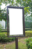 Blank billboard  in the park Royalty Free Stock Image