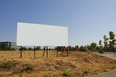 Blank billboard in a plot stock photography