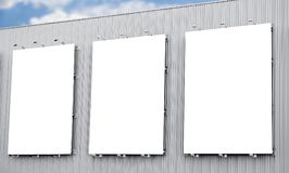 Blank billboard or poster in the city Royalty Free Stock Image