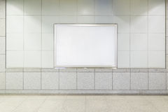 Blank Billboard in public place Stock Photography