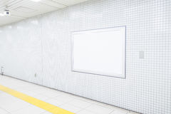 Blank Billboard in public place Royalty Free Stock Photos