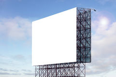 Blank billboard ready for advertisement Stock Photo