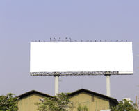 Blank billboard ready for new advertisement Royalty Free Stock Image