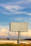 Blank billboard. Stock Photography