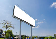 Blank billboard ready for new advertisement Royalty Free Stock Photography