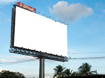 Blank billboard ready for new advertisement Stock Images
