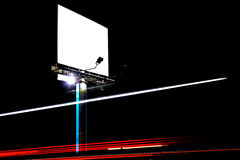 Blank billboard. Ready for new advertisement stock images