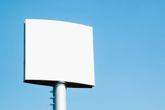 Blank billboard. Ready for new advertisement against with blue sky background Royalty Free Stock Photos