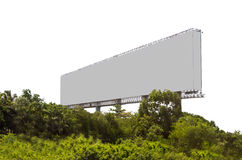 Blank billboard ready for new advertisement. Royalty Free Stock Images