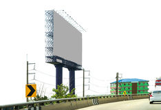 Blank billboard ready for new advertisement background. Royalty Free Stock Photography