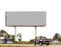 Blank billboard ready for new advertisement background. Royalty Free Stock Photo