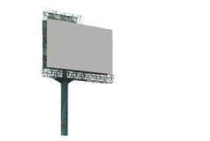 Blank billboard ready for new advertisement background. Royalty Free Stock Images