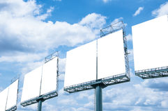 Blank billboard ready for new advertisement Stock Image