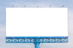 Blank billboard ready for new advertisement with sky background Stock Photo