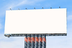 Blank billboard ready for new advertisement Royalty Free Stock Photos