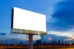 Blank billboard ready for use Royalty Free Stock Photos