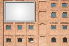 Billboard on a building Royalty Free Stock Image