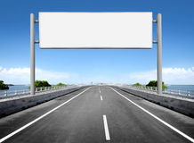 Blank billboard or road sign Royalty Free Stock Photo