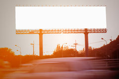 Blank billboard. Or road sign on the moterway royalty free stock photos