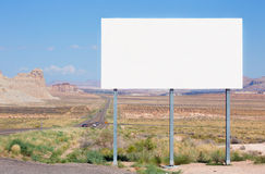 Blank billboard on a road of Utah Stock Image