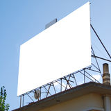 Blank billboard on rooftop. Blank billboard with space to place your own advertising Royalty Free Stock Images
