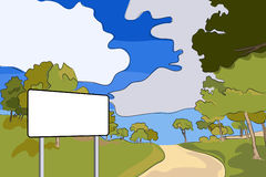 Blank billboard in a rural landscape Stock Image