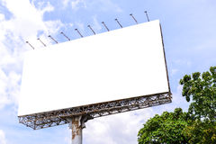 Blank billboard with rusted structure against blue sky for advertisement Stock Photography