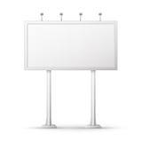 Blank billboard screen Royalty Free Stock Photos