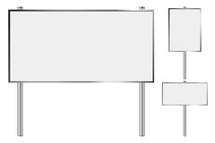 Blank billboard set Royalty Free Stock Photography