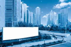 Blank billboard in shanghai Royalty Free Stock Image