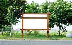 Blank billboard side of the road Stock Images