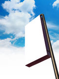 Blank billboard sign Royalty Free Stock Photo