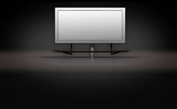 Blank Billboard Sign on Dark 3d Background Royalty Free Stock Image