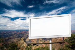 Blank Billboard Sign at the Grand Canyon Stock Photos