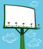 Blank billboard. Sign with ladder and sky in background royalty free illustration