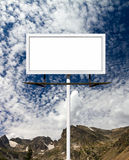 Blank Billboard Sign in the Mountains Stock Photos
