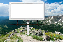 Blank Billboard Sign in Outdoor Wilderness Stock Photo